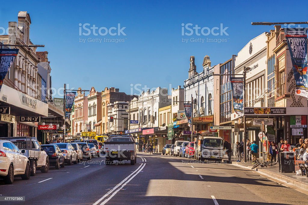 King Street, Newtown stock photo