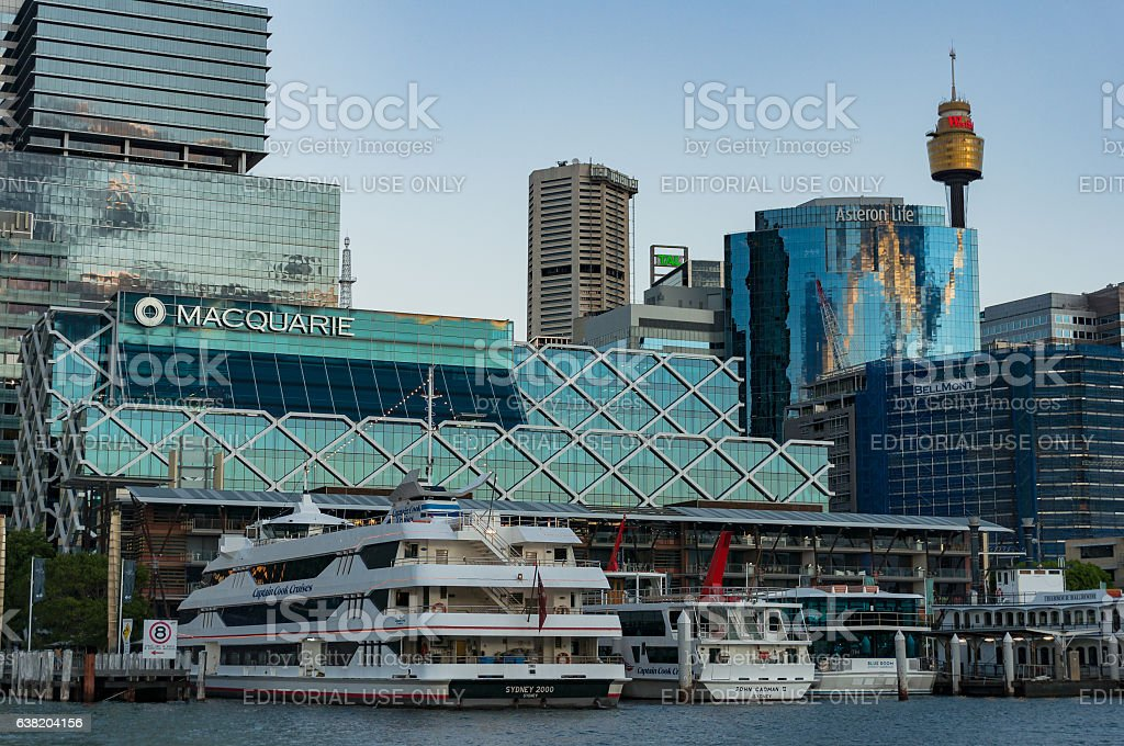 King Street Wharf with Sydney Central Business District skyline – Foto