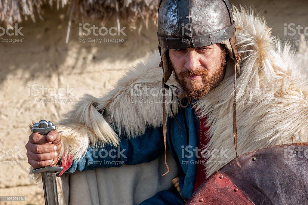 king warrior stock photo