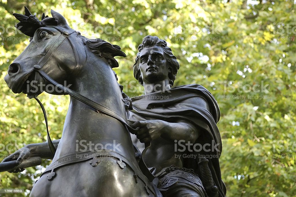 King William III Equine Statue stock photo