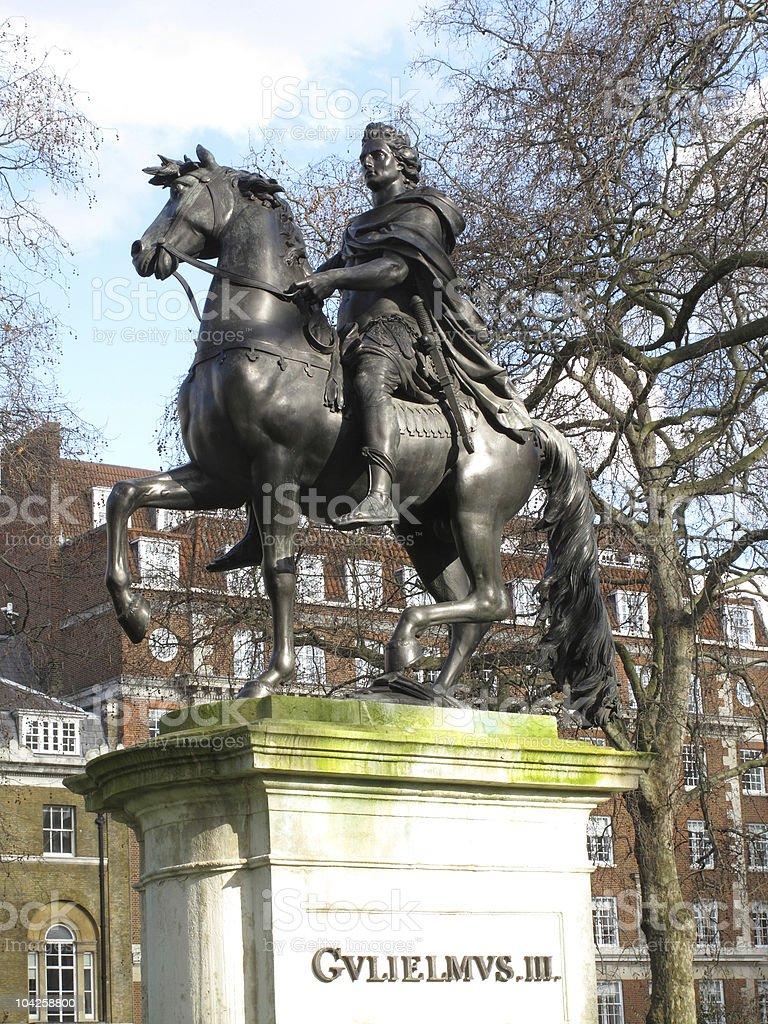 King William III statue St James Square stock photo