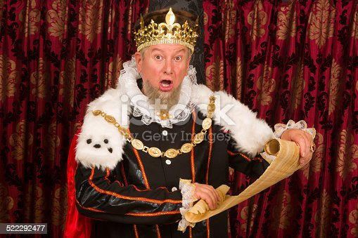 istock King with parchment scroll 522292477