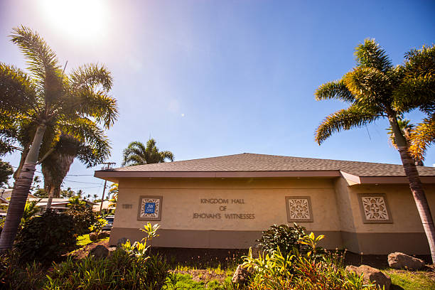 Kingdom Hall of Jehovah's Witnesses, Maui stock photo