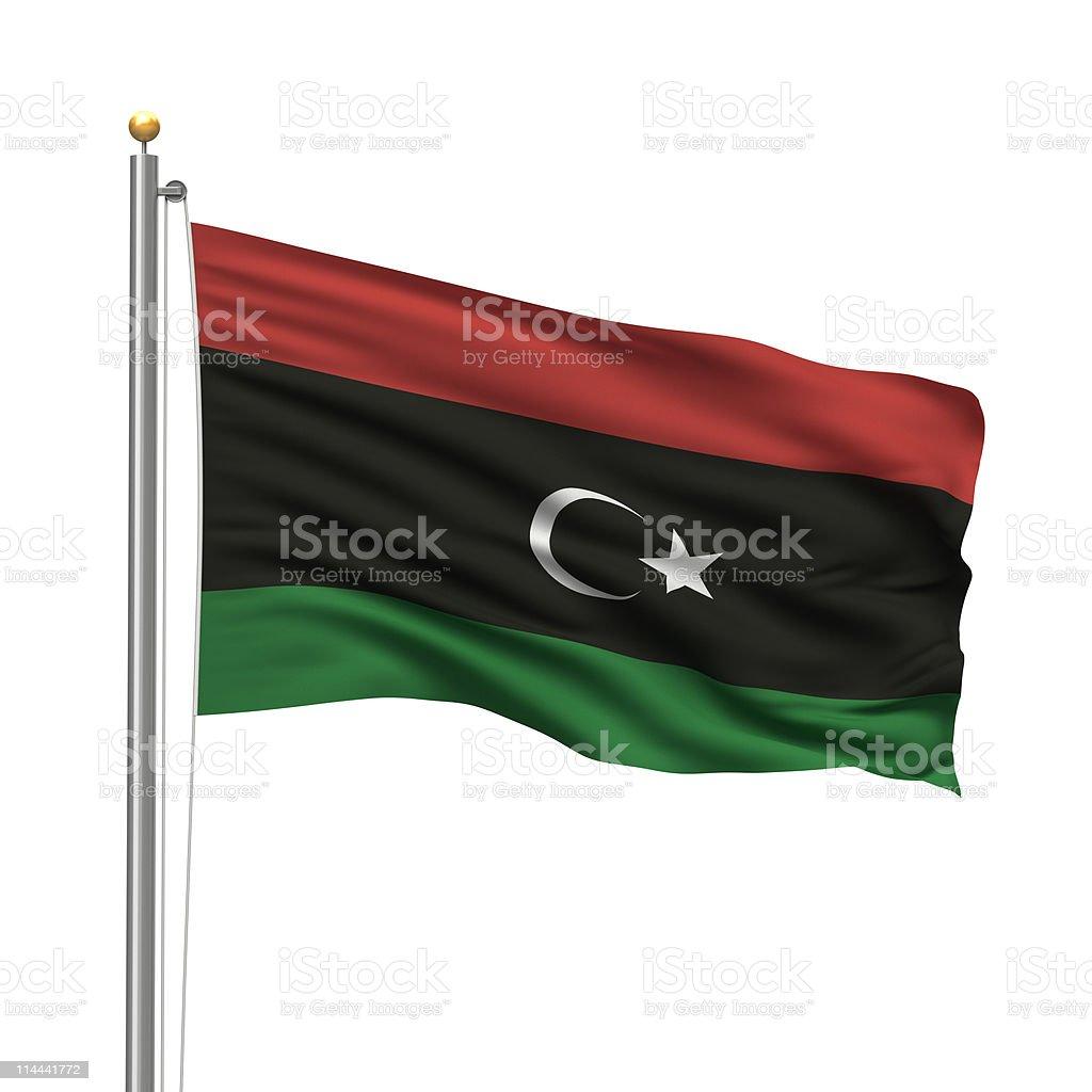 Kingdom of Libya Flag royalty-free stock photo