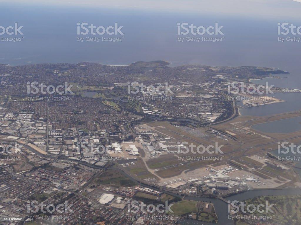キングフォード スミス空港シドニー国際空港空撮 - オーストラリアの ...