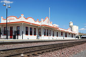 art deco building of the santa fe railroad