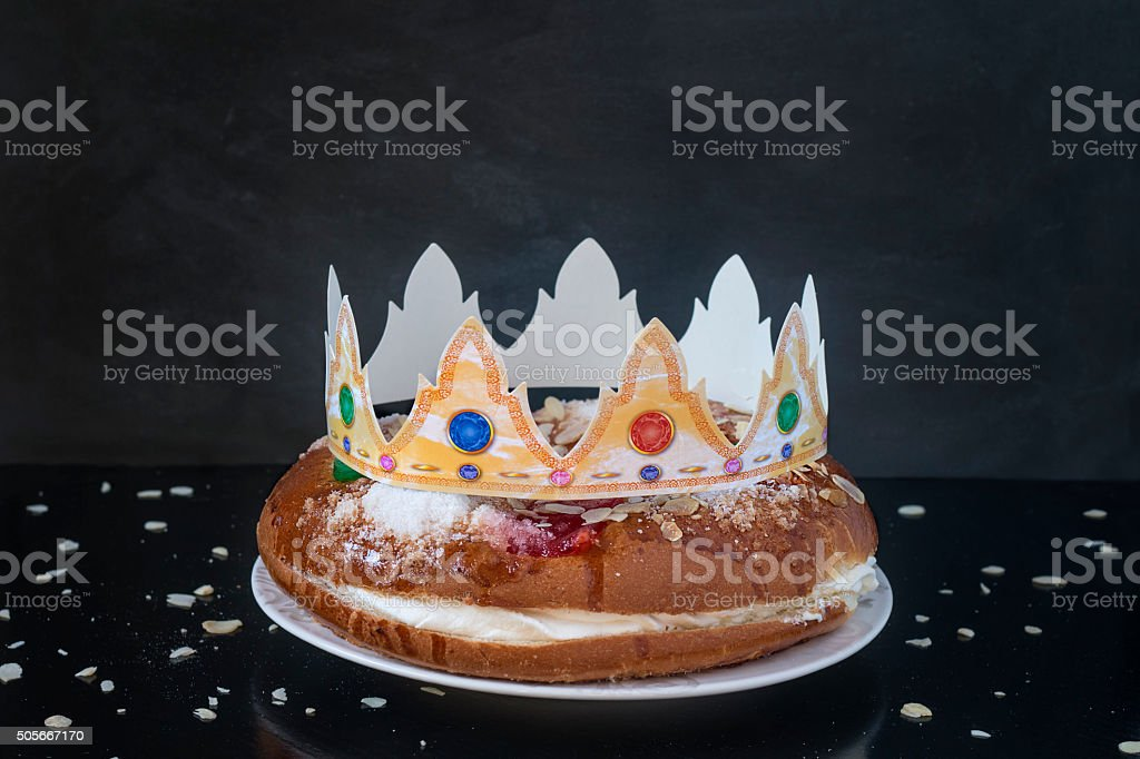 Kings Cake Spanish Traditional Sweet Stock Photo More Pictures Of