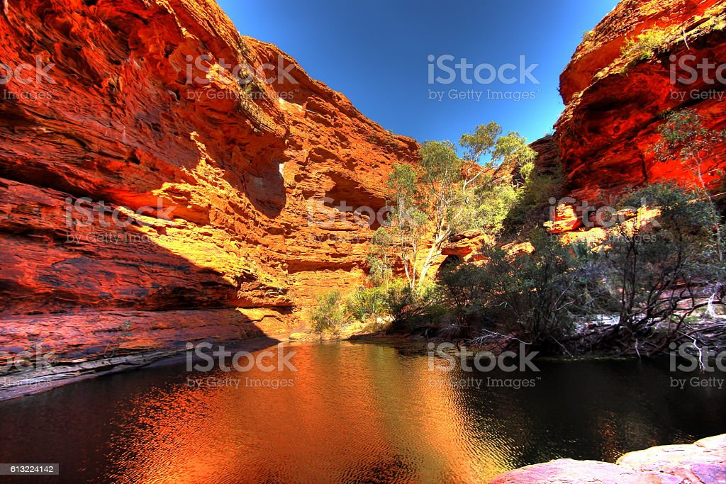 Kings Canyon, Australia stock photo