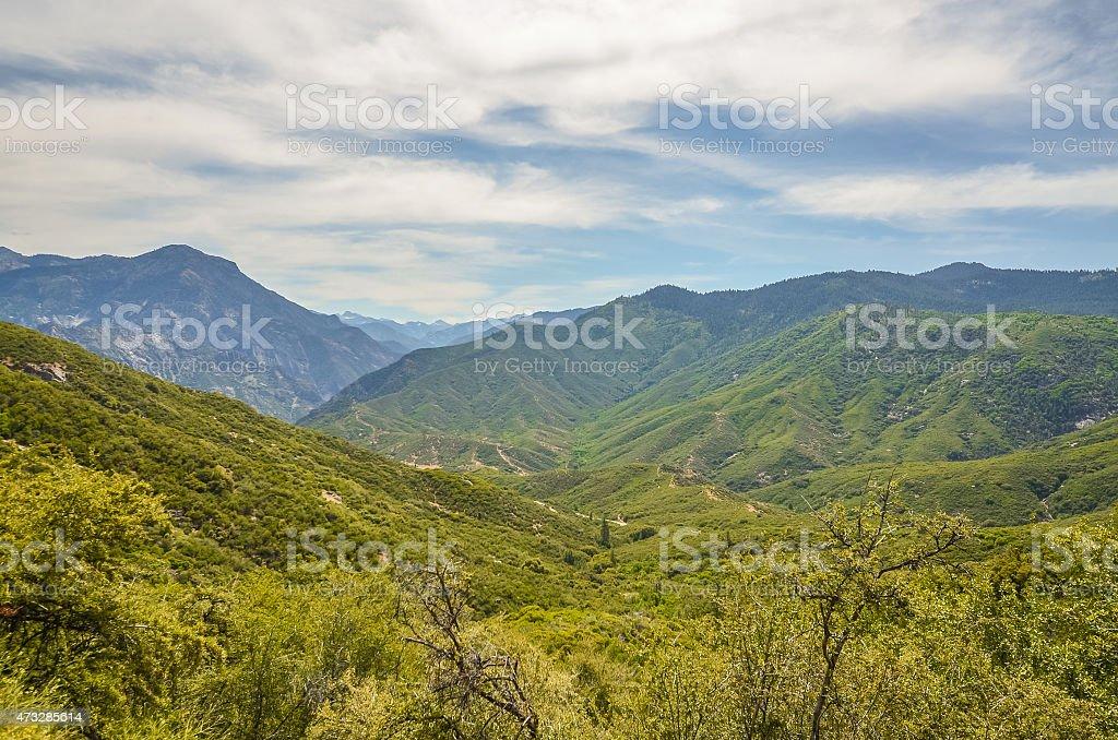 Kings canyon national park, California. stock photo