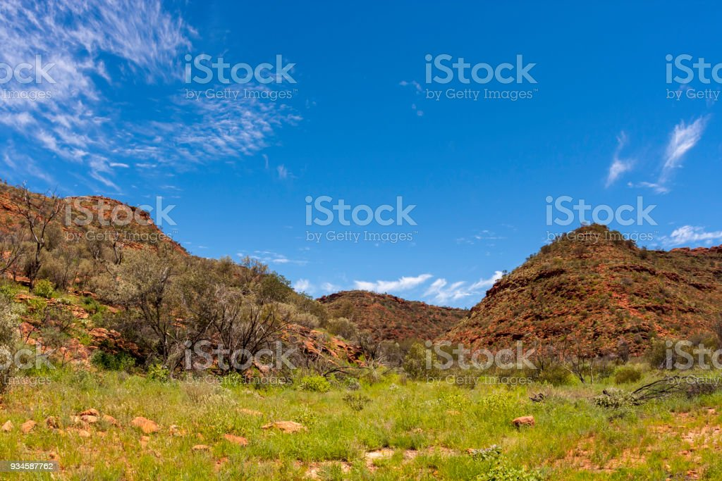 Kings Canyon, Northern Territory,Watarrka National Park,  Australia stock photo