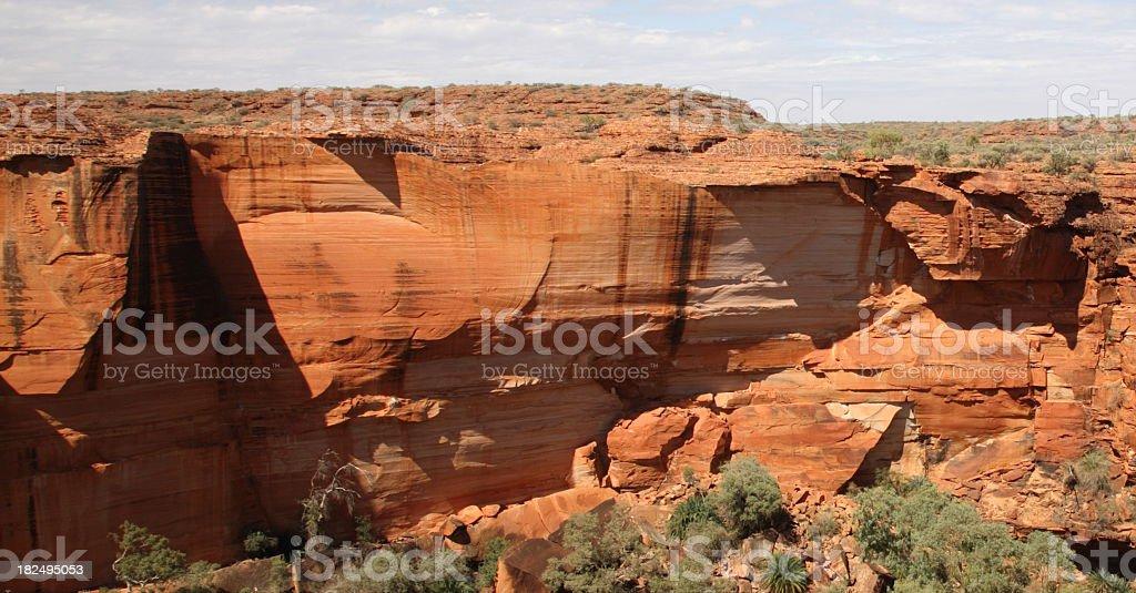 kings canyon rock wall royalty-free stock photo