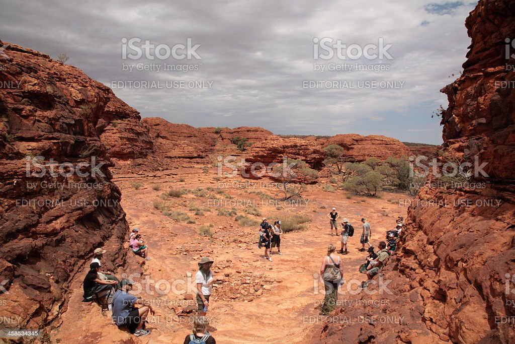 Kings Canyon Walk at Amphitheatre stock photo