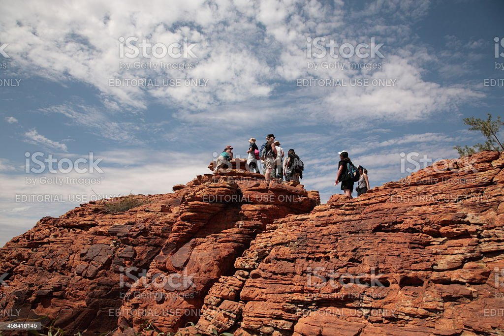 Kings Canyon Walk stock photo