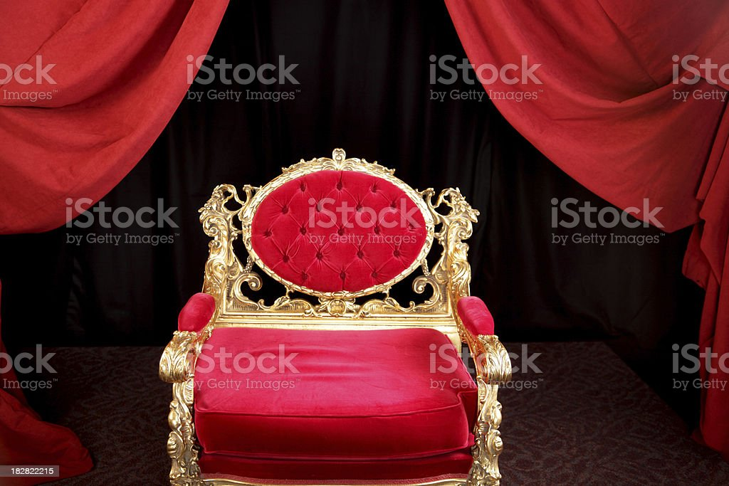 Kings Chair Throne royalty-free stock photo