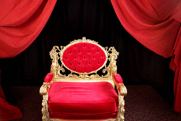 Kings Chair Throne stock photo