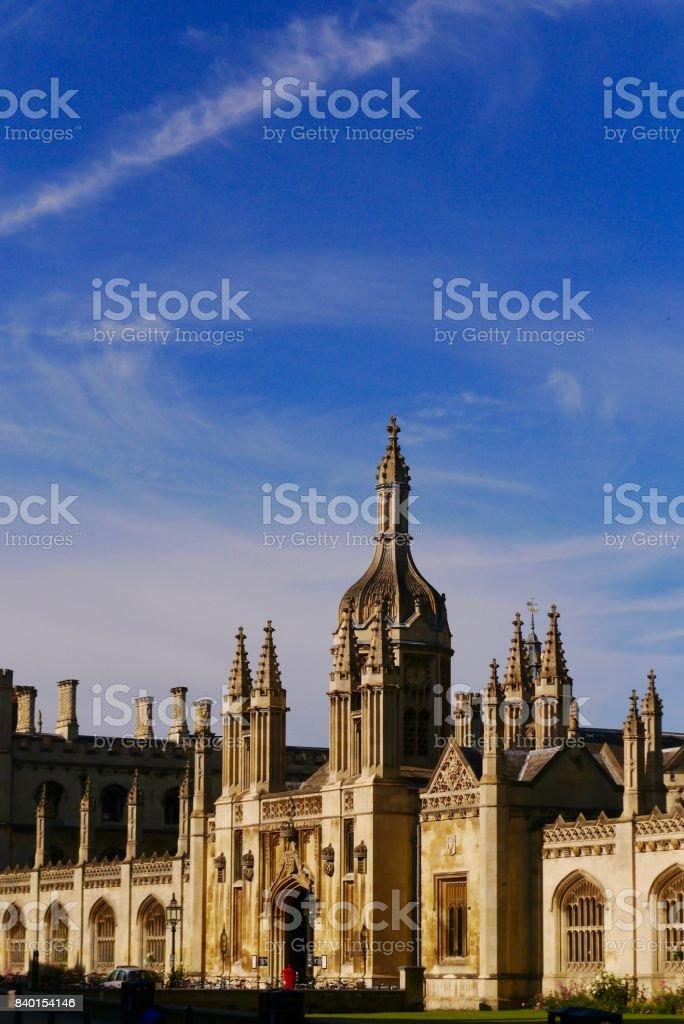 King's Collage, Cambridge, Entrance stock photo