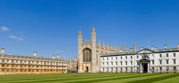 kings college and chapel in cambridge uk - cambridge university stock photos and pictures