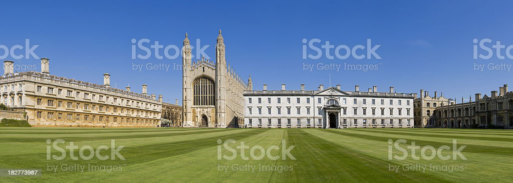 Kings College and Chapel in Cambridge UK stock photo