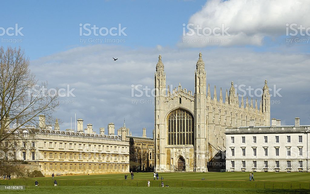 Kings College at Cambridge stock photo