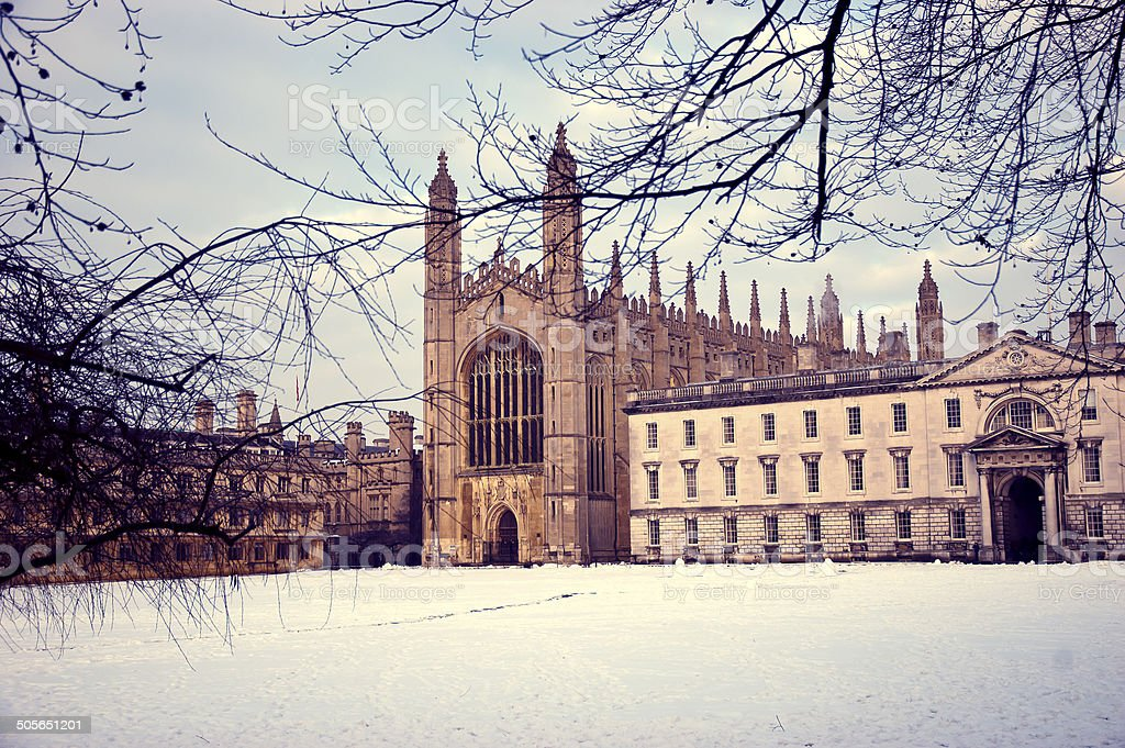 Kings College Cambridge in winter - Royalty-free Architecture Stock Photo