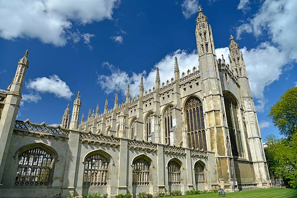 kings college chapel. cambridge england. - cambridge university stock photos and pictures