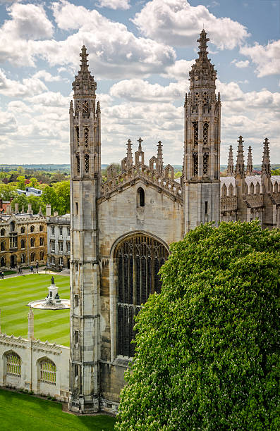 Kings College Chapel in Cambridge stock photo