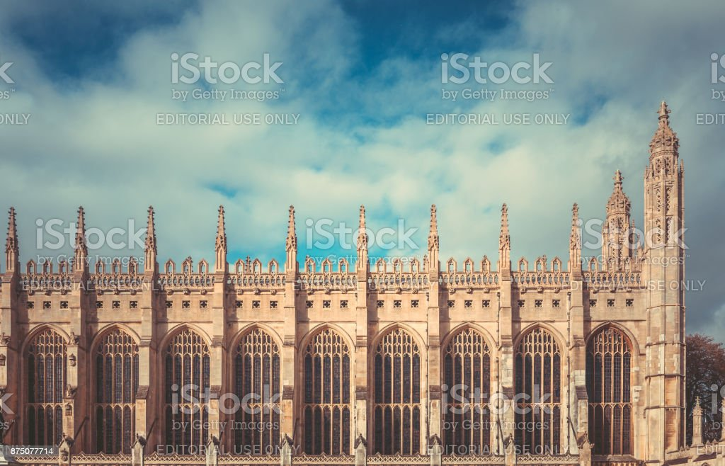 King's college in Cambridge, England stock photo