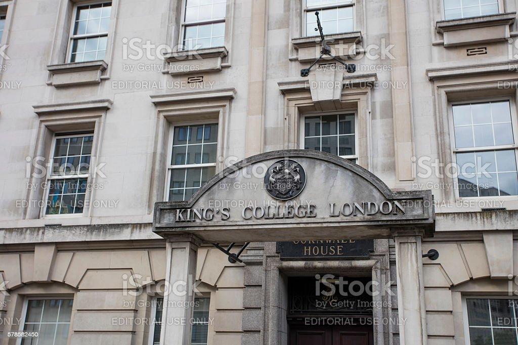 Kings College London stock photo