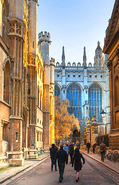 king's college started in 1446 by henry vi, cambridge - cambridge university stock photos and pictures
