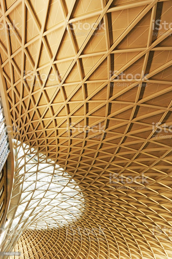 Kings Cross and St Pancras Station stock photo