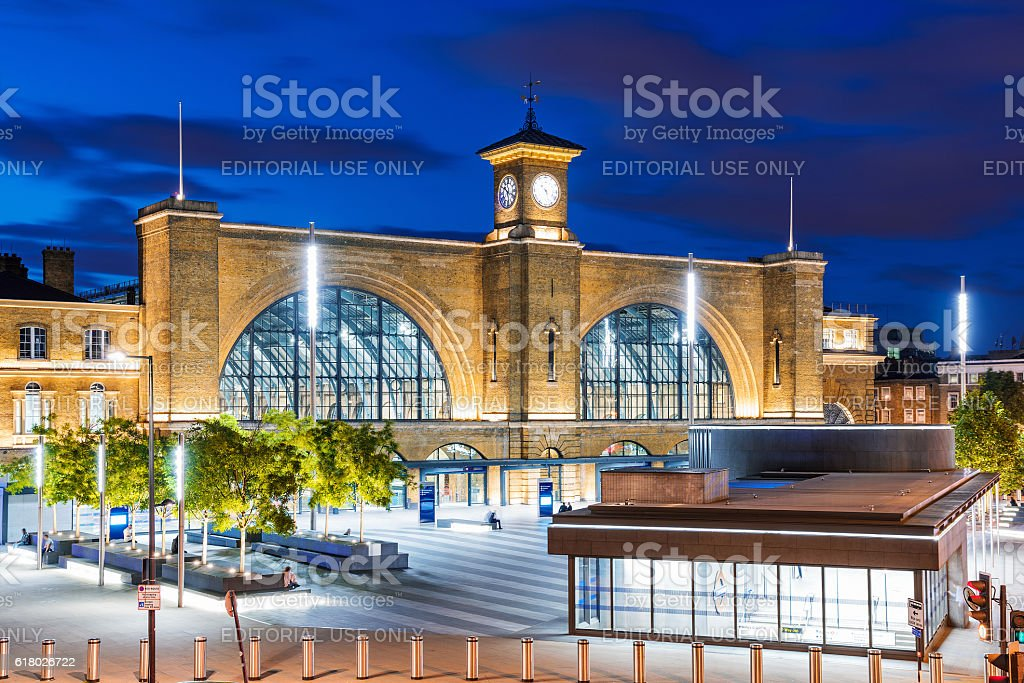 Kings cross at night stock photo