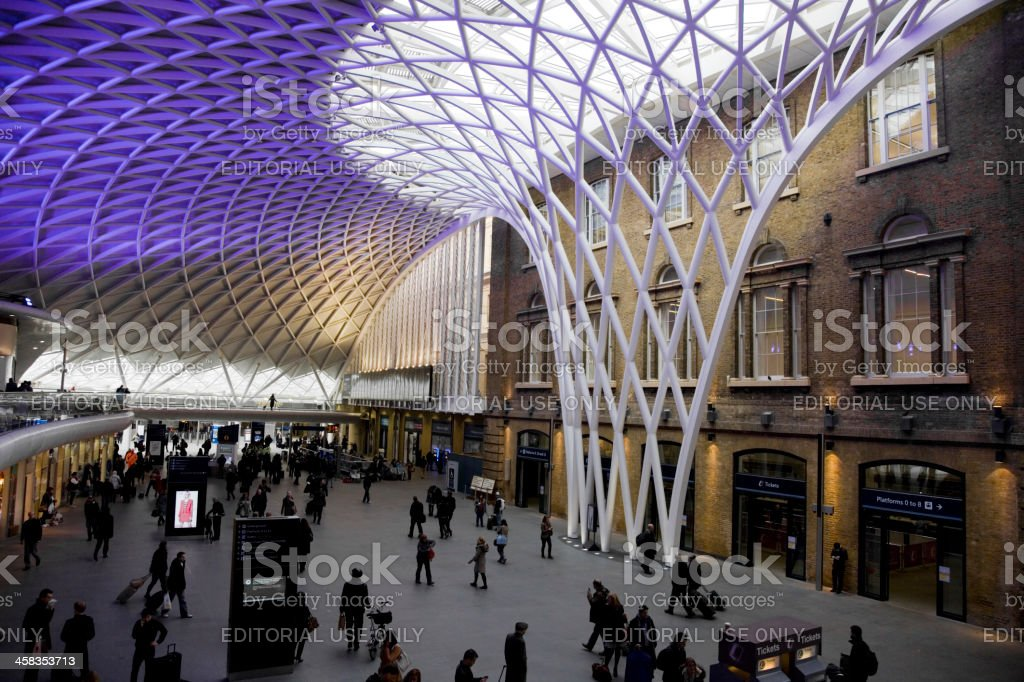 King's Cross Railway Station royalty-free stock photo