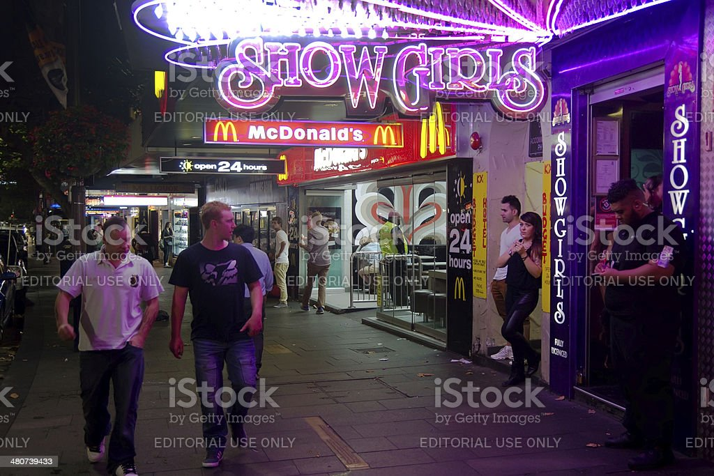 Kings Cross - Showgirls stock photo