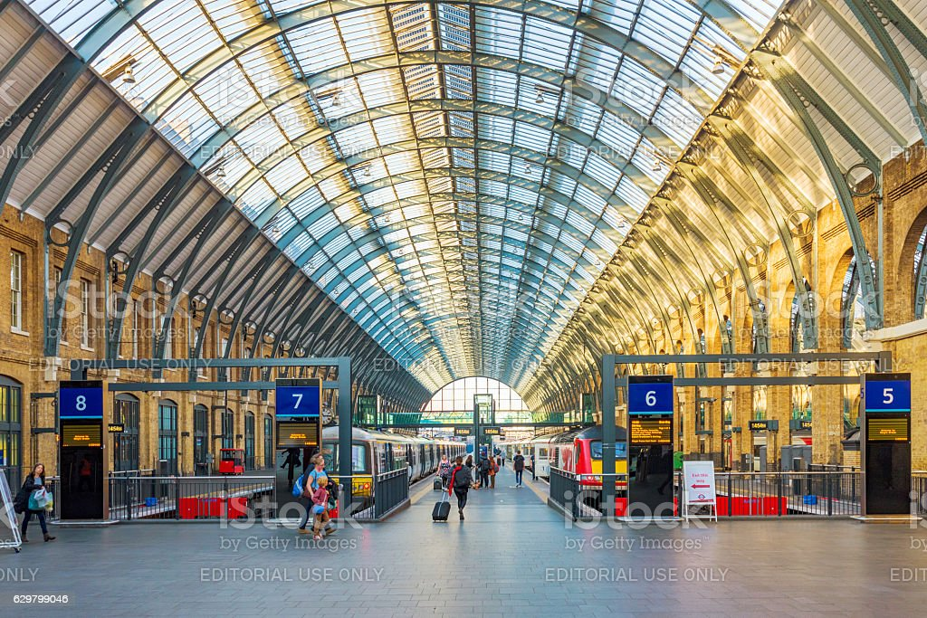 Kings Cross St Pancras railway station stock photo