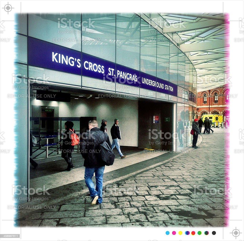 King's Cross St. Pancras Underground Station, London royalty-free stock photo