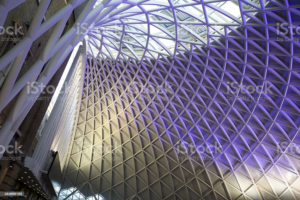 Kings Cross Station ceiling stock photo