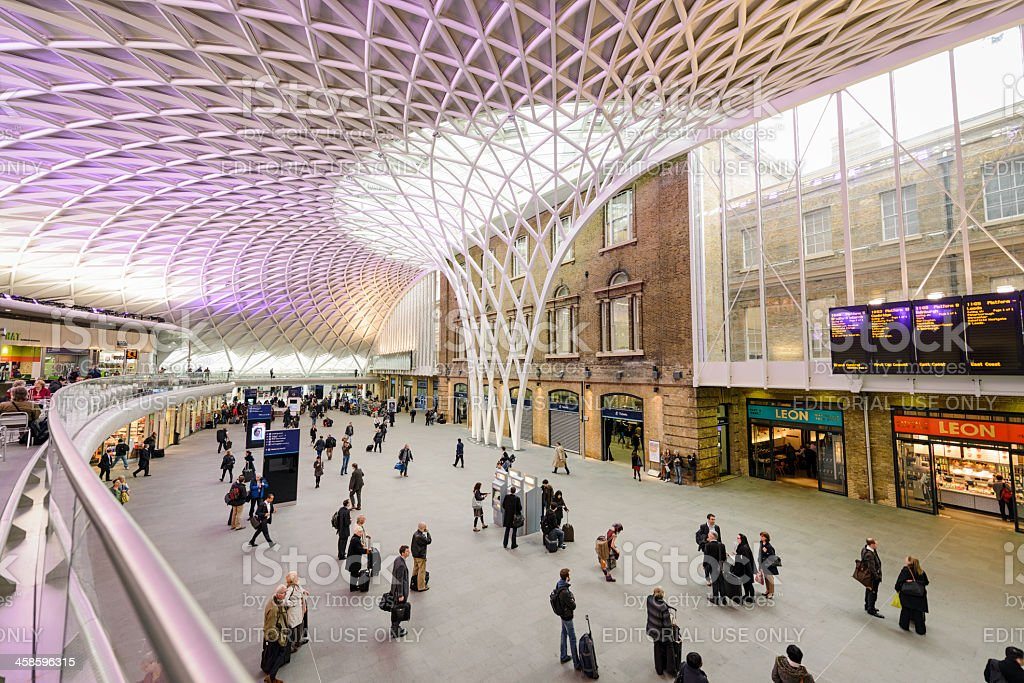 King's Cross Station in London stock photo