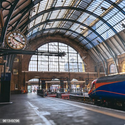 King's Cross Station is considered one of the main train stations to serve London, England. Based off of J.K. Rowling's Harry Potter series, Platform 9 ¾ is a fictional train platform located in King's Cross Station in London