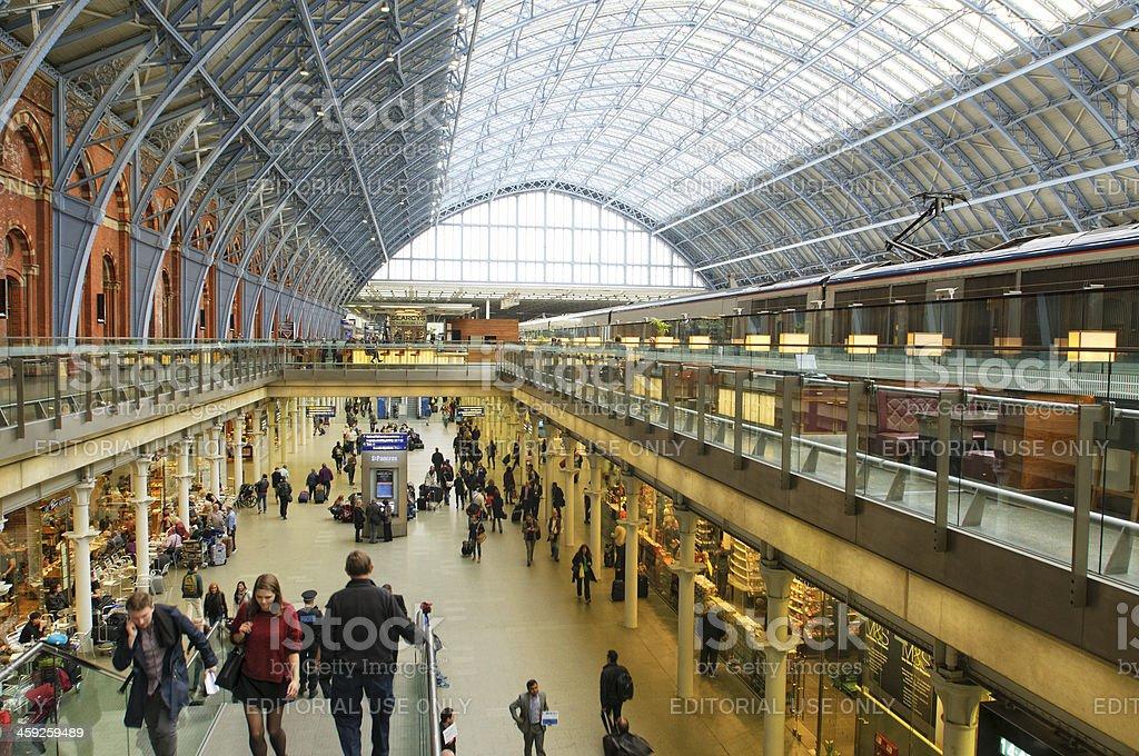 Kings Cross train station royalty-free stock photo