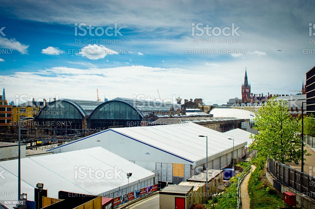 Kings Cross/St Pancras station stock photo