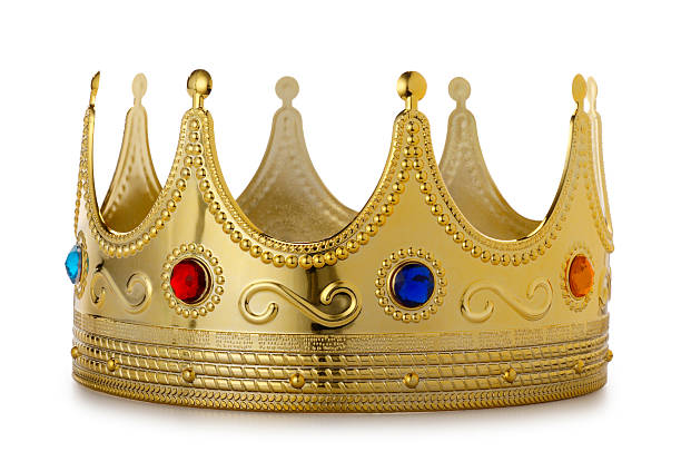 Kings Crown on White  crown headwear stock pictures, royalty-free photos & images