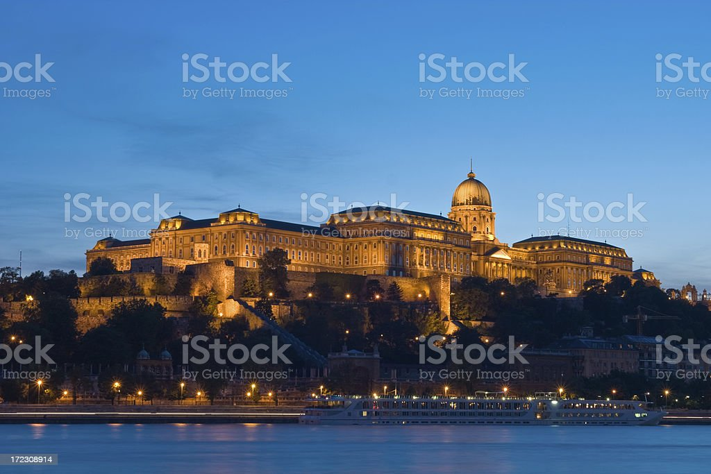 King's palace in Budapest royalty-free stock photo