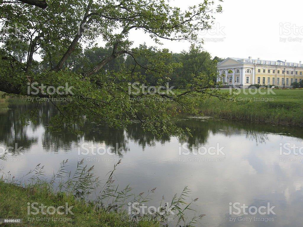 King's palace w Tsarskoye selo, w pobliżu Petersburg, Rosja zbiór zdjęć royalty-free