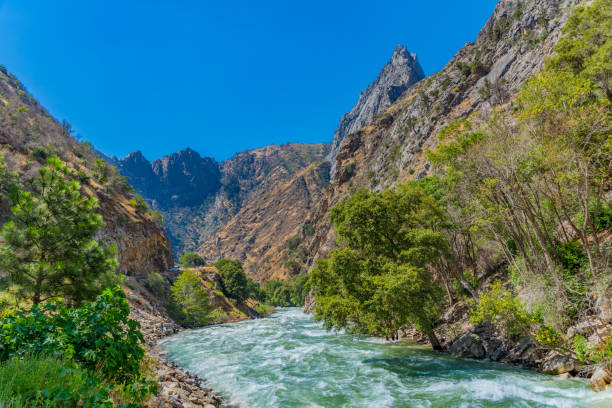 Kings River flows in Kings Canyon National Park; CA stock photo