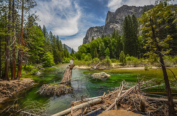 Kings river in Sequoia national park, California. stock photo