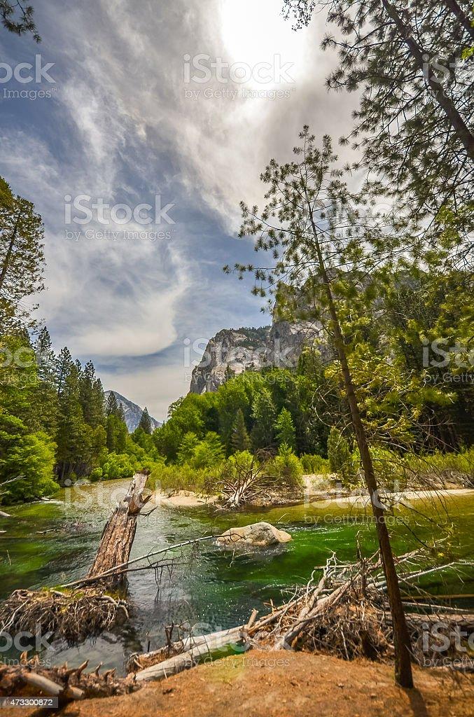 Kings river in Sequoia national park, California. stock photo