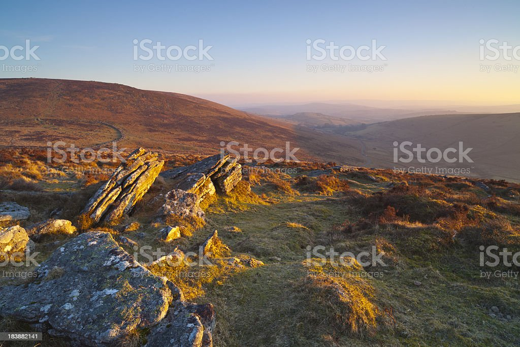 Kings Tor, Dartmoor National Park. stock photo