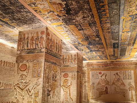 VIKV9, Kings' Valley No. 9, Tomb of Memnon, tomb of the pharaohs from the 20th dynasty: Ramses V and Ramses VI