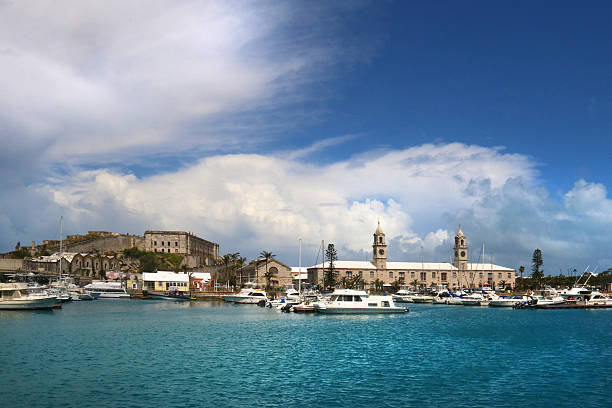 King's Wharf Bermuda view from the Sea. – Foto
