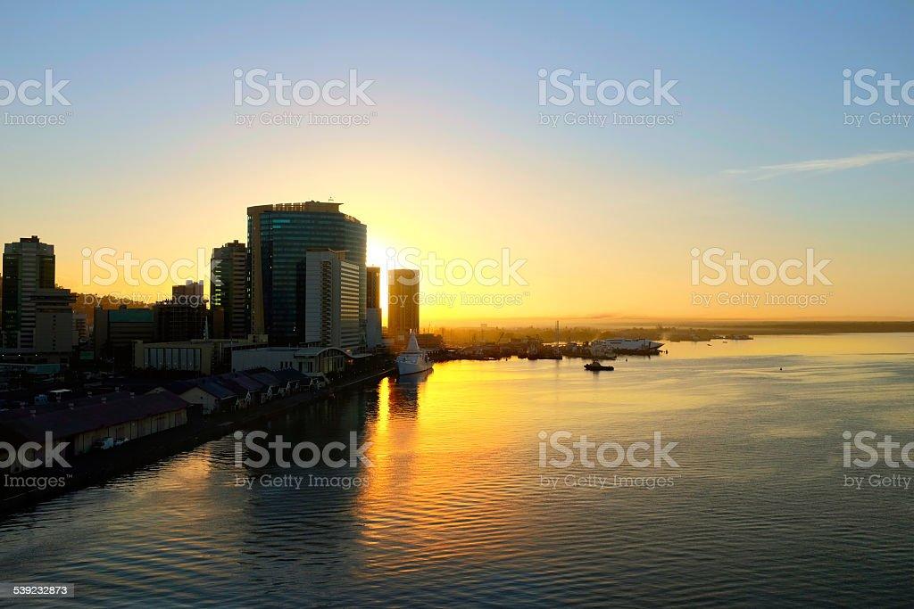 King's Wharf en Trinidad y Tobago foto de stock libre de derechos